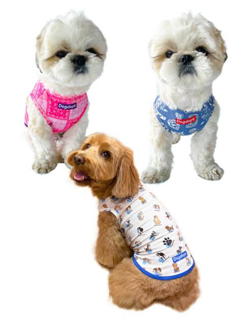 【DOG WEAR】ストレッチ メッシュノースリーブ