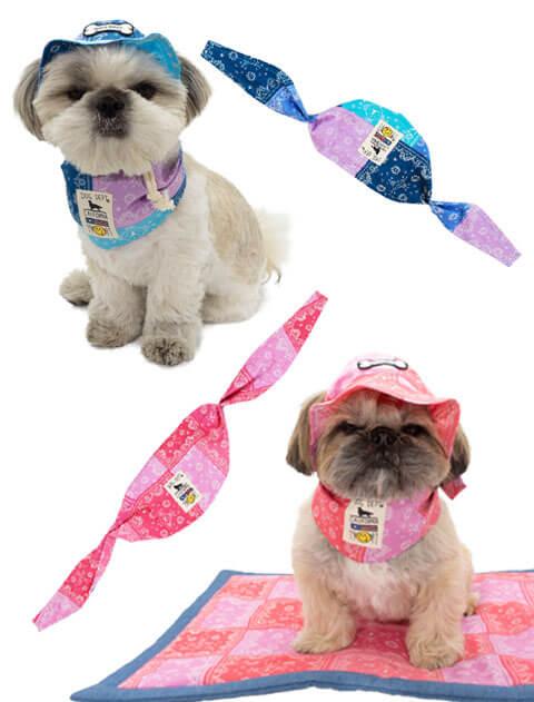 【DOG GOODS】ペイズリーパッチワーク クールバンダナ