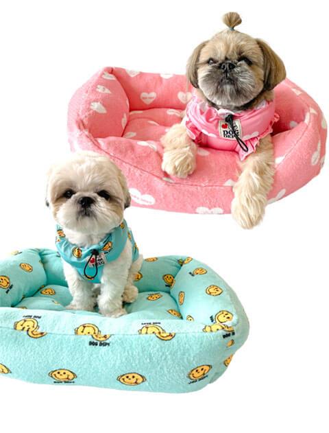 【DOG GOODS】ハート&スマイル ドッグベッド
