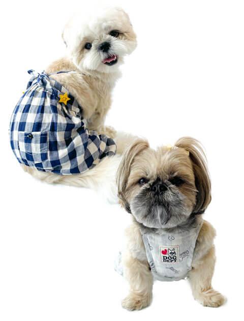 【DOG WEAR】Wガーゼバルーンパンツ