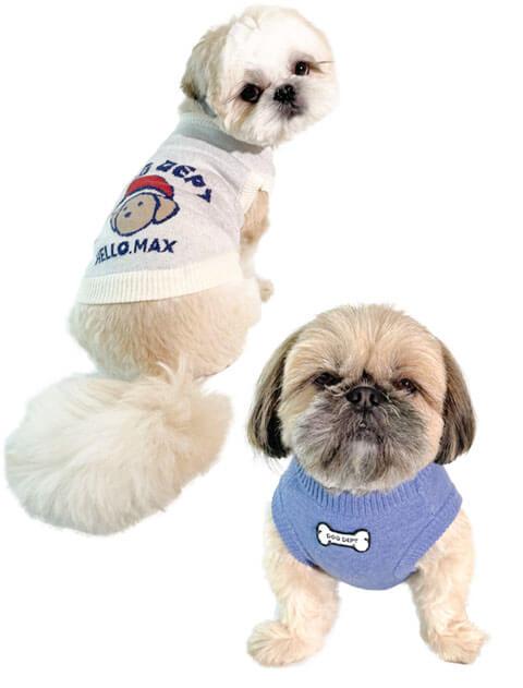 【DOG WEAR】Hello Max ジャガードニット
