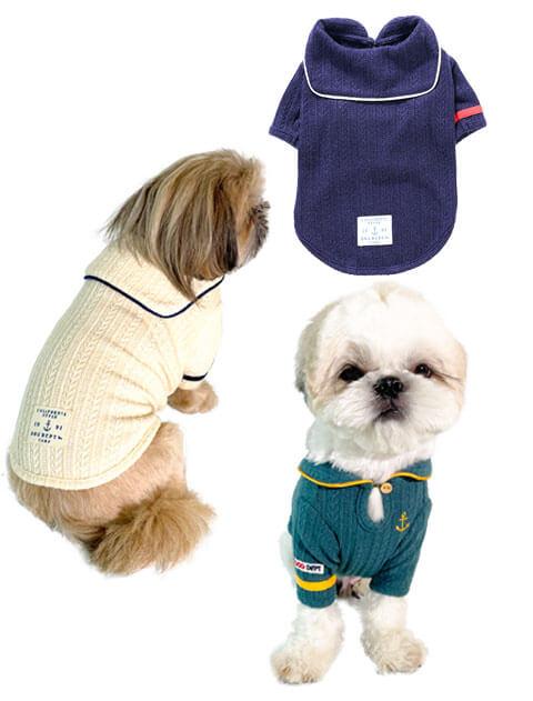 【DOG WEAR】ケーブルセーラー