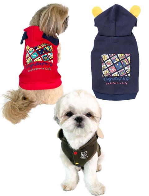 【DOG WEAR】Dog ears ボタンパーカー