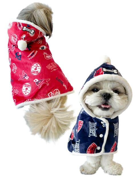 【DOG WEAR】ふわぽかロゴマント