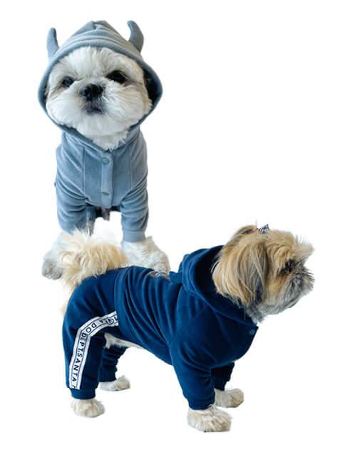 【DOG WEAR】ストレッチフリース ロンパース