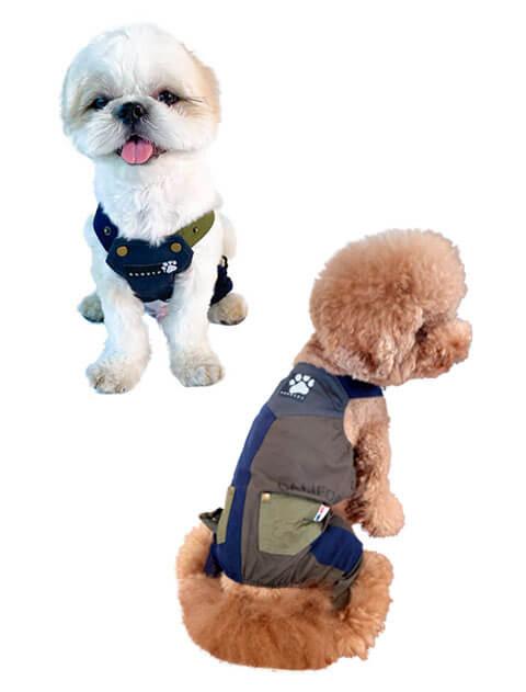 【DOG WEAR】ストレッチクレイジーサロペット パンツ