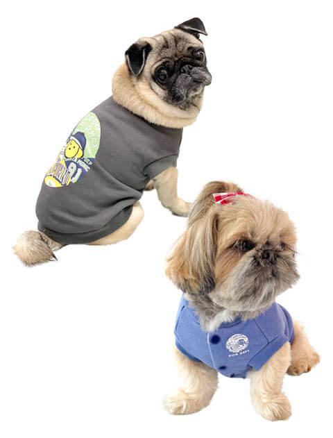 【DOG WEAR】パッチワークロゴ スウェット
