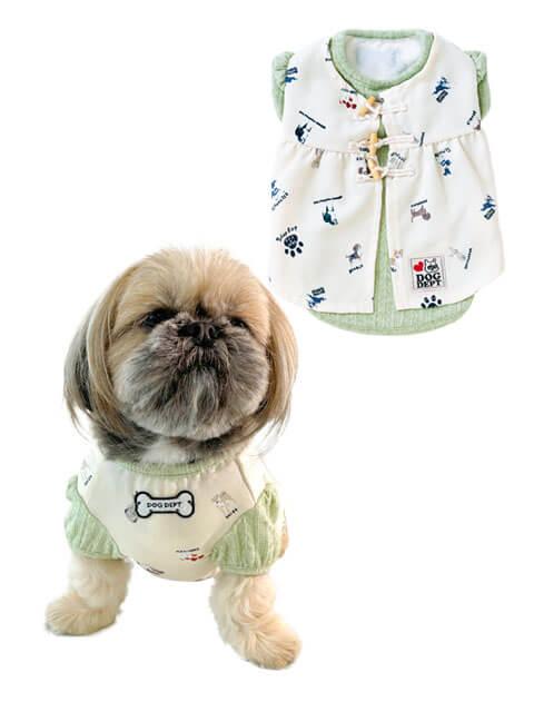 【DOG WEAR】ドッグパターン ワンピース