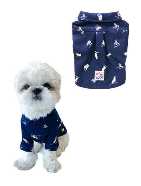 【DOG WEAR】ドッグパターン シャツ