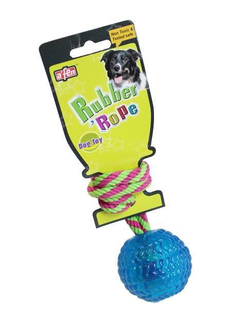 【DOG GOODS】カラフルロープボール
