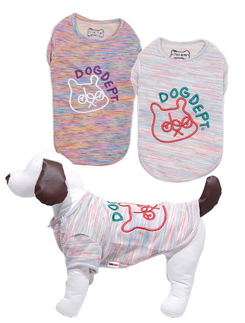 《期間限定アウトレット》【DOG WEAR】カラフルミックスデプタT