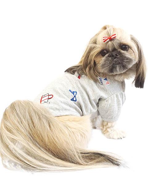 【DOG WEAR】HAPPY 刺繍T