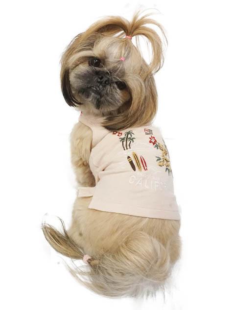 【DOG WEAR】ドッグ&サーフ刺繍 ポロ