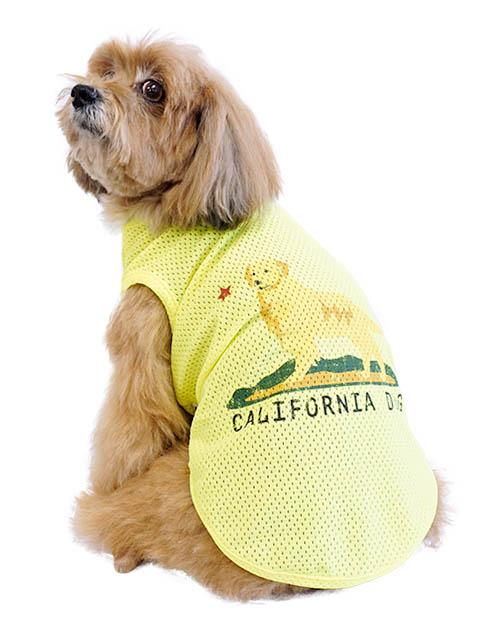 【DOG WEAR】カリフォルニアドッグ メッシュノースリーブ