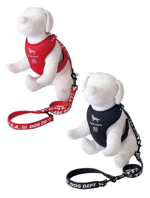 【DOG GOODS】反射ロゴリード&ソフトハーネスセット