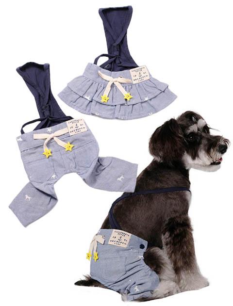 《まとめ割引対象》【DOG WEAR】ドッグ&スター ボトムス