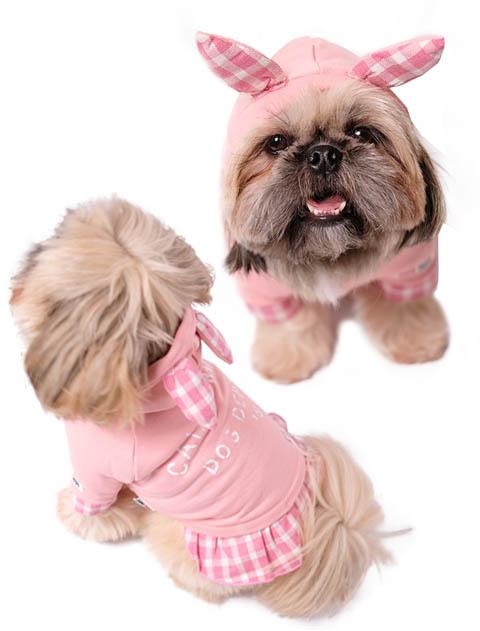 【DOG WEAR】レイヤーうさ耳パーカー