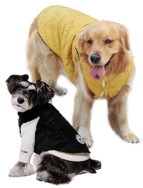 【DOG WEAR】キルト生地×ボア リバーシブルベスト