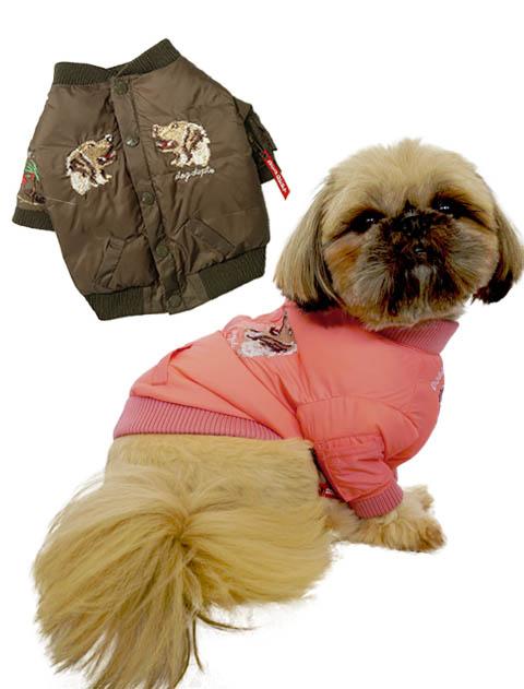 【DOG WEAR】SUKA刺繍 MA-1