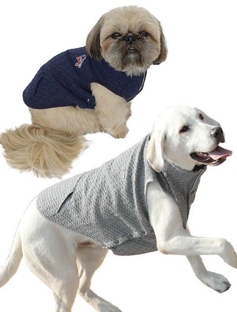 《まとめ割引対象》【DOG WEAR】ふくれジャガードノースリーブ