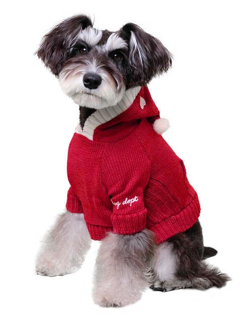 《まとめ割引対象》【DOG WEAR】とんがり帽子のニットパーカー