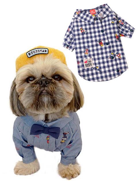 《まとめ割引対象》【DOG WEAR】Hello.MAX 総柄シャツ