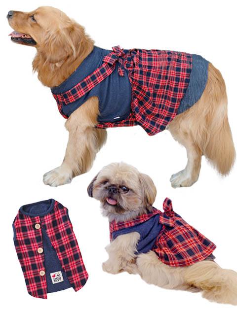 【DOG WEAR】レトロチェック ペア