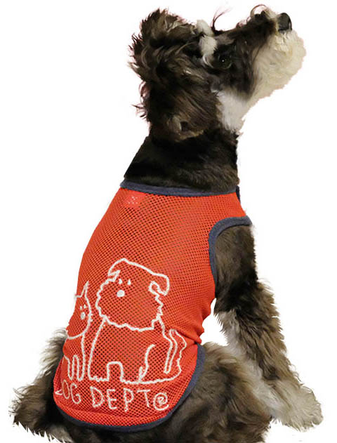 【WEB&一部店舗限定】【DOG WEAR】リボン付きノースリーブメッシュ