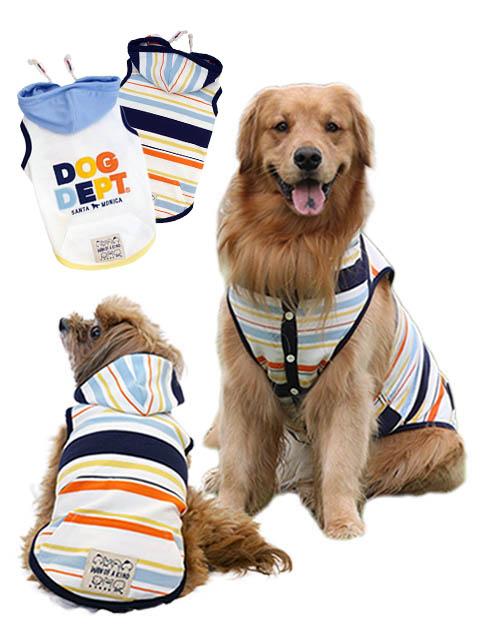 【DOG WEAR】カラフルボタンパーカー