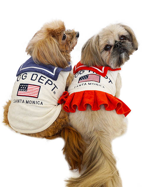 【DOG WEAR】フラッグマリンノースリーブ