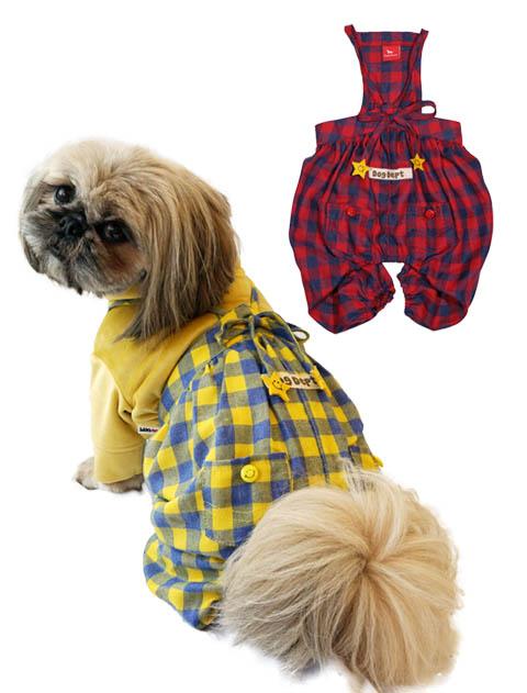 《期間限定》【DOG WEAR】チェックパンツ