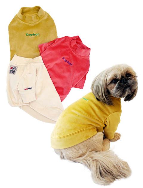 《期間限定》【DOG WEAR】ハイネックベロアTシャツ