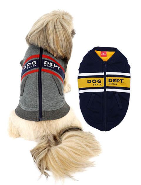【DOG WEAR】ライン背中ファスナーベスト