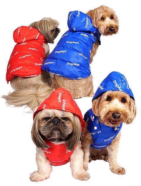 【DOG WEAR】ロゴ中綿コート