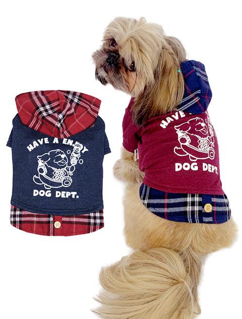 【DOG WEAR】ぽっちゃりBBQレイヤーパーカー
