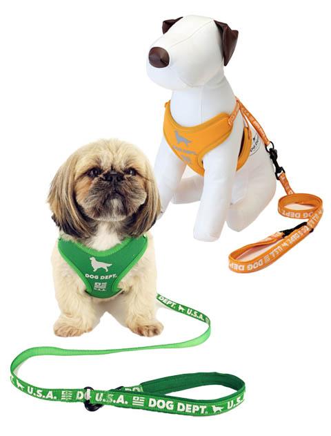 【DOG GOODS】反射ロゴ リード&ソフトハーネスセット