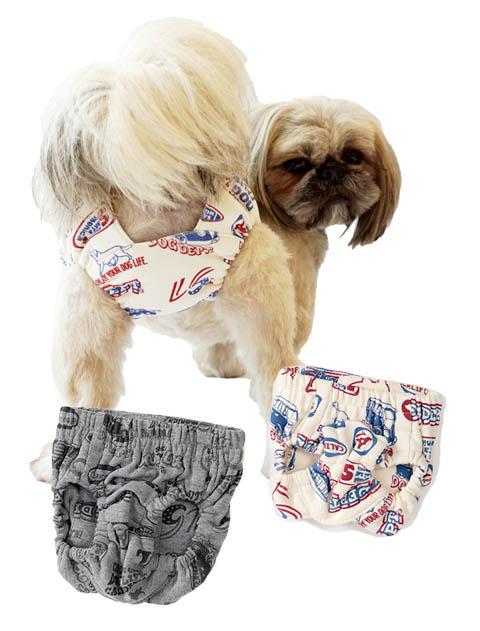 【DOG GOODS】総柄ロゴ マナーパンツ