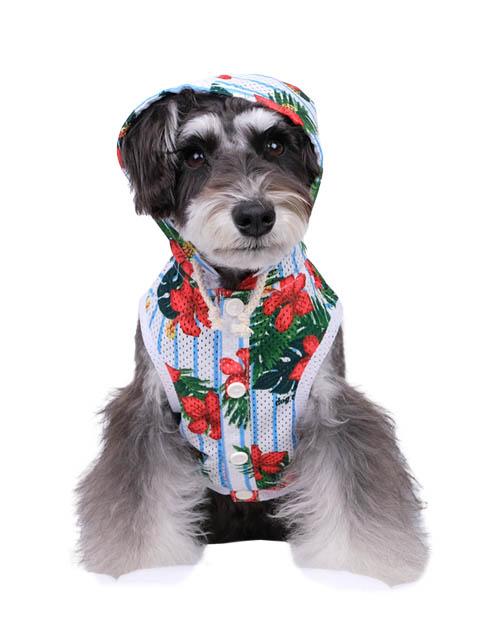《期間限定》【DOG WEAR】アロハメッシュパーカー