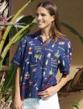 【WOMEN】アメリカンロゴ オープンシャツ