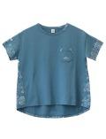 【WOMEN】ペイズリー切り替えTシャツ