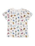 【WOMEN】おすわり総柄Tシャツ
