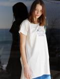【WOMEN】イラストドッグ&キャットロングTシャツ