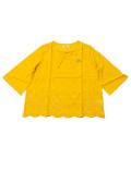 【まとめ割引対象】【WOMEN】スカラップ キーネックシャツ