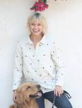 《まとめ割引対象》【WOMEN】スター&ドッグ刺繍ガーゼR/Gシャツ