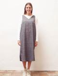 【WOMEN】グレンチェック サロペットスカート