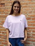 《2点以上でさらに10%OFF対象》【WOMEN】日本製バスクTシャツ