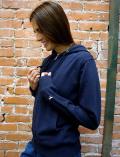 【WOMEN】空紡糸 ジップパーカー