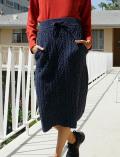【WOMEN】ボア×ニット スカート