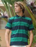 【UNISEX】ロゴボーダー 襟付きシャツ
