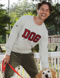 【UNISEX】DOGアップリロゴクルースウェット
